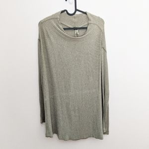 Free People We The Free Lover Ribbed Sweater Tan M